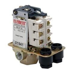 Element - ELT 3CO-3Y 3-11 Bar Tahliyeli Üç Yollu ON/OFF Trifaze Basınç Şalteri