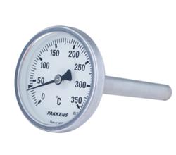 Pakkens - Pakkens , Q63 , 25 cm , Bi-Metal Arkadan Bağlantılı Sıcaklık Ölçer Manometre