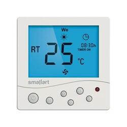 Smallart - Smallart Dijital Sıva Üstü Haftalık Programlı Fancoil Termostat / SM2008FFS-T4ERL