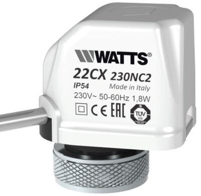 Watts Elektrotermik Aktüatör 230V, NC / WT-22CX230NC2